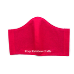 Exclusive Handmade 3D Original Masks Bright Rose L- TeensWomenAdults