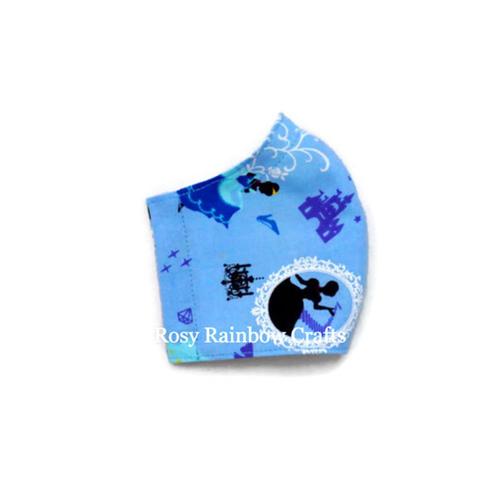 Exclusive Handmade Kids Masks Cinderella Blue 3-6 years old