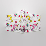 Exclusive Handmade 3D Original Masks Playful Unicorns In White Small 4 - 6 years old