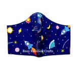 Exclusive Handmade 3D Original Masks Outer Space Dark Blue Medium 7 - 12 years old