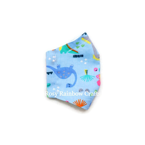 Exclusive Handmade 3D Seamless Masks Happy Dino S 4-7 years old