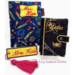 Exclusive Customs To Order Handmade Embroidery Book CaseCover Small - A6