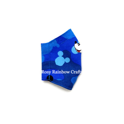 Exclusive Handmade 3D Seamless Masks Mickey Blue Camourflage M 8-12 years old