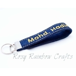 Exclusive Handmade Embroidered Custom Made To Order Key-FobKey-Chain Denim Series