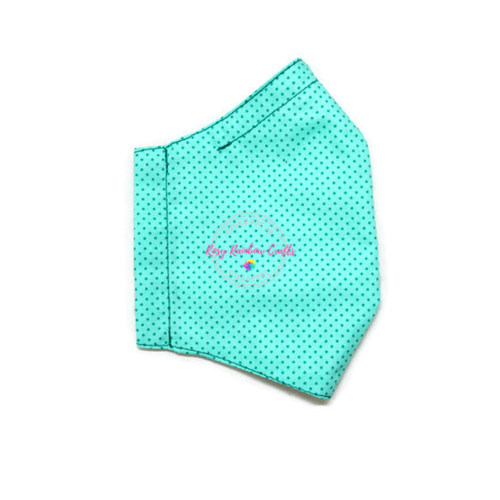 3D Seamless Mask Candy Turqouise Dots Medium (8-12 years old)
