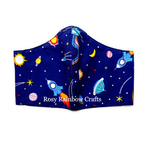 Exclusive Handmade 3D Original Masks Outer Space Dark Blue Small 3 - 6 years old