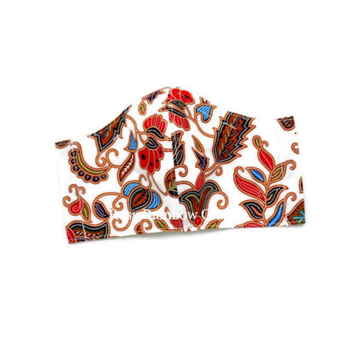 Exclusive Handmade Masks Insipired SQ Airlines Batik Pure White WomenTeenagers