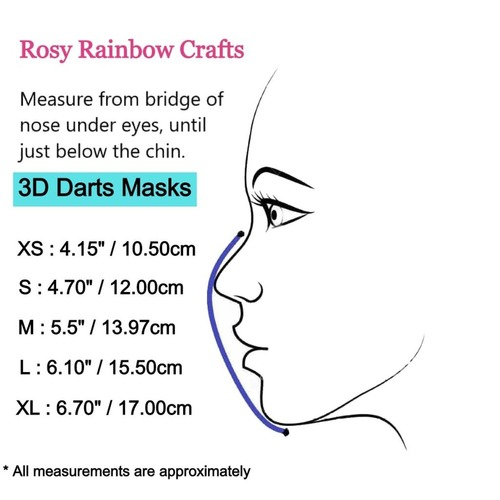 3D Seamless Mask Candy Turqouise Dots Small (4-7 years old)