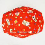 Exclusive Handmade 3D OrigamiBoat Masks Chinese Red Lucky Cat Large PLUS WomenMen