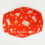 Exclusive Handmade 3D OrigamiBoat Masks Chinese Red Lucky Cat Extra Small 1-3 years old