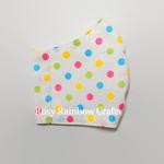 Exclusive Handmade 3D Original Masks Multi Colours Polka Dots Medium 7-12 years old