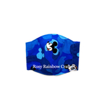 Exclusive Handmade 3D Seamless Masks Mickey Blue Camoa XS 1-3 years old