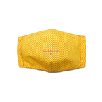 3D Seamless Mask Candy Yellow Dots Small (4-7 years old)