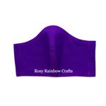 Exclusive Handmade 3D Oiginal Masks Purple Brinjal L - TeensWomenAdults