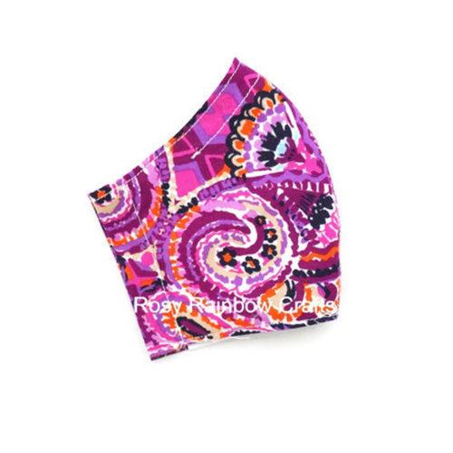 Exclusive Handmade Kids Masks Purple Paradise 3-6 years old