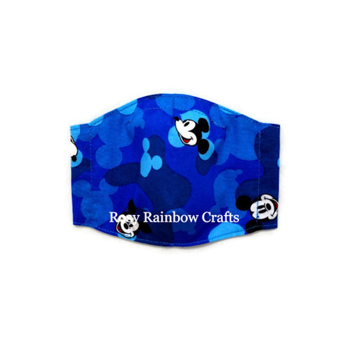 Exclusive Handmade 3D Seamless Masks Mickey Blue Camourflage S 1-3 years old