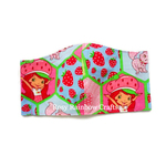 Exclusive Handmade Kids Masks Classic Strawberry Shortcake Pink Hex 3-6 years old