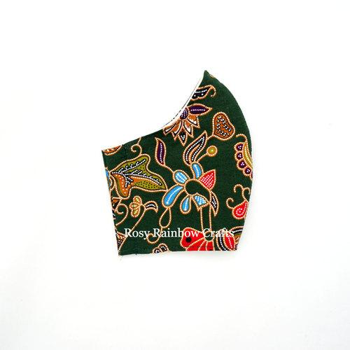 Exclusive Handmade Masks Inspired SQ Airlines Batik Army Green Men