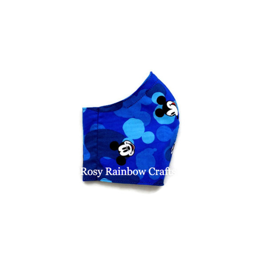Exclusive Handmade 3D Original Masks Mickey Blue Camourflage S 3-6 years old