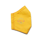 3D Seamless Mask Candy Yellow Dots Medium (8-12 years old)