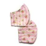 Exclusive Handmade 3D Original Masks Sweet Pink Stripes Horizontal L - TeenWomen