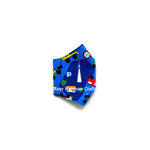 Exclusive Handmade 3D Darts Masks Blue Vehicles XS - 1 - 3 years old