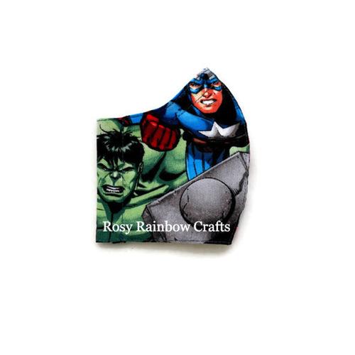 Exclusive Handmade 3D Original Mask Marvel Superheroes S 3-6 years old