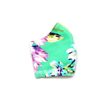 Exclusive Handmade Kids Masks Floral Purple Turquoise 3-6 years old