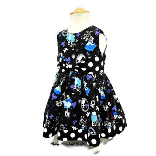 Exclusive Party Dress For Little Girl In Cinderella Black