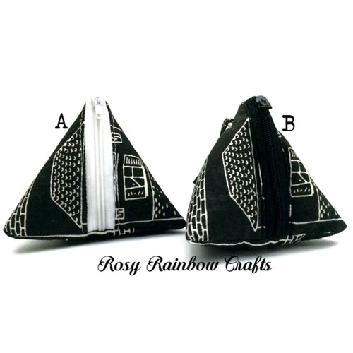 Exclusive Handmade Dumpling Triangle Coins Pouch Small