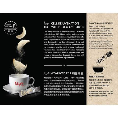 Bird's Nest Collagen Extracts Packed with Glycoprotein for Cell Rejuvenation : Glyco-Factor R