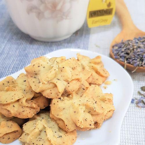 Earl Grey Lavender Butter Cookies