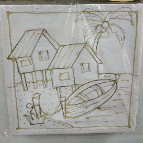 Prewaxed Batik Frame - Kampung House