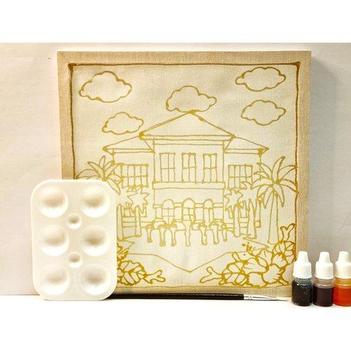 Prewaxed Batik Frame Taman Warisan Includes Brush & Palette