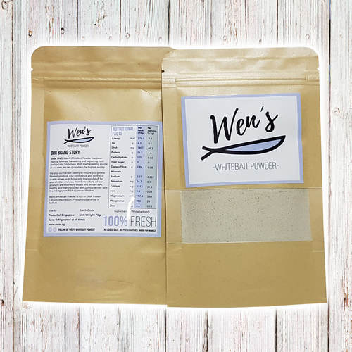 Wen's Whitebait Powder - Premium White Bait, Refill Pack (70g)