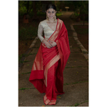 Handwooven kadhwa antique goldsilver jari mulmul cotton banarasi saree.