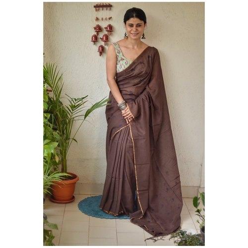 Handwoven jamdani muslin cotton saree