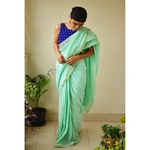 handwoven musin cotton saree with bootis