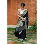 Handwoven kadhwa katan silk banarasi saree with bootis motifs