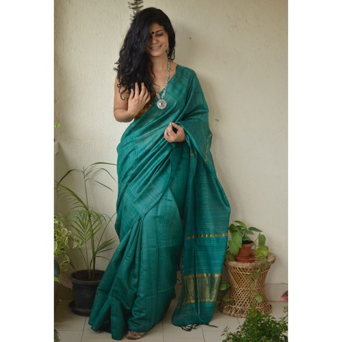 Handwoven Tussar silk saree.
