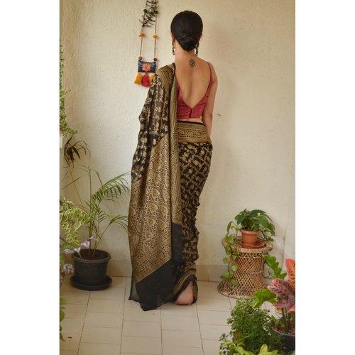 Handwoven khaddi georgette banarasi saree