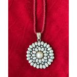 Handmade silver pure perl neckpiece  .