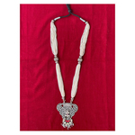 Handmade perl made silver neckpiece with antique pendant.
