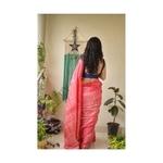 handwoven and handmade tussar shibori saree