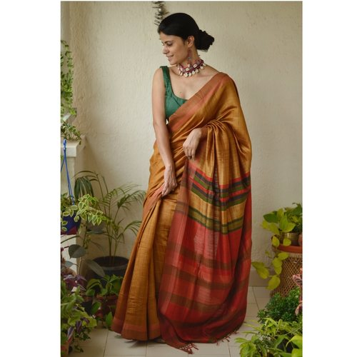 Handwoven  tussar silk saree