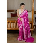 Handwoven kadhwa tussar silk  banarasi saree