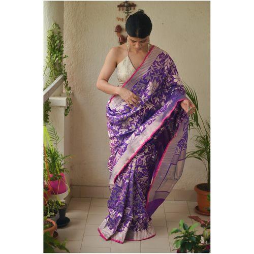Handloom kadhuwa jari motifs katan  silk banarasi saree.