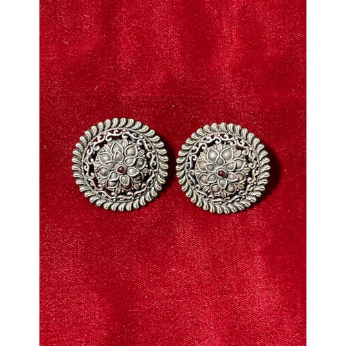 Handmade pure silver  stud earrings