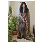 Handwoven Meheswari silk cotton saree