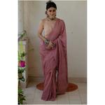 Handloom and Handembroidered chikankari mull cotton saree.